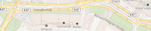 Karte Höfe am Brühl Leipzig