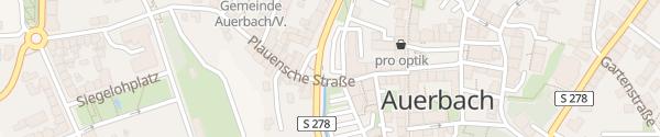 Karte Göltzschtalstraße Auerbach/Vogtland