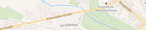 Karte Bahnhof Wittstock/Dosse