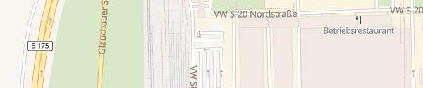 Karte Volkswagen Werk Mosel Parkplatz West Zwickau