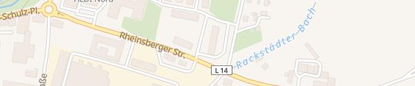 Karte Rheinsberger Straße Wittstock/Dosse