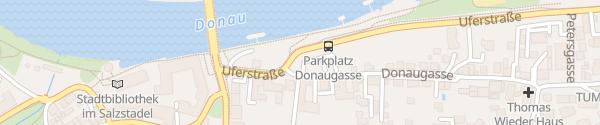 Karte Parkplatz Straubing