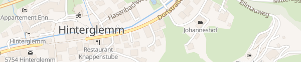 Karte Hotel Edelweiss Hinterglemm