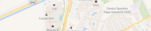Karte McDonald's Jesolo