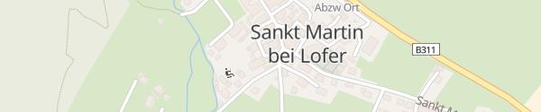 Karte Gemeindeamt St. Martin bei Lofer