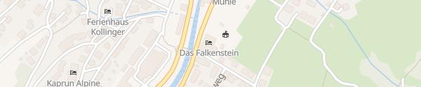 Karte Hotel Falkenstein Kaprun