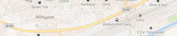 Karte Tourismusinformation Lienz