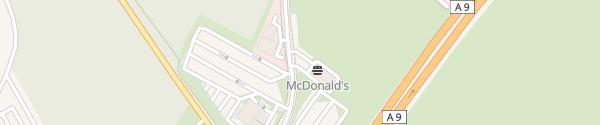 Karte McDonalds - Autohof Brück Linthe