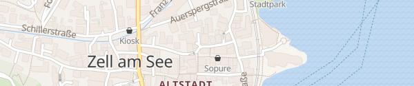 Karte Hotel-Gasthof Grüner Baum Zell am See
