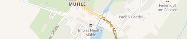 Karte E-Bike Ladestation Biergarten Fleether Mühle Mirow