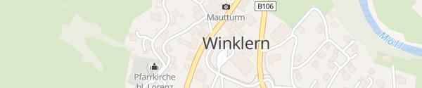 Karte Parkplatz Winklern
