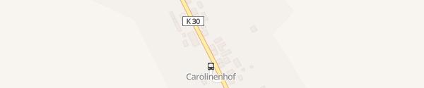 Karte E-Bus-Werner Carolinenhof