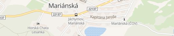 Karte Horská chata XL Jáchymov - Mariánská