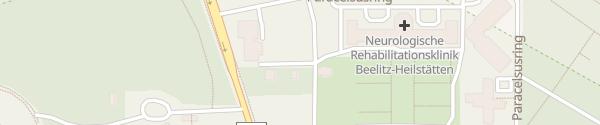 Karte Tesla Supercharger Beelitz-Heilstätten