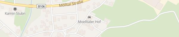 Karte Hotel Mölltalerhof Rangersdorf