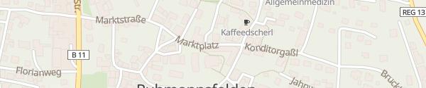 Karte E-Wald Ladesäule Ruhmannsfelden