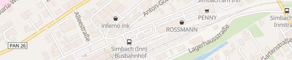 Karte P+R Bahnhof Simbach am Inn
