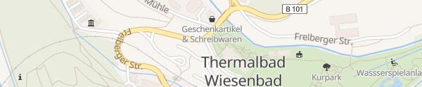 Karte Kurpark Thermalbad Wiesenbad