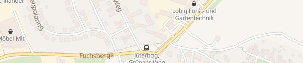 Karte Hotel Bergschlößchen Jüterbog