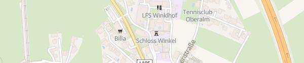 Karte Winklhof Landwirtschaftliche Fachschule Oberalm