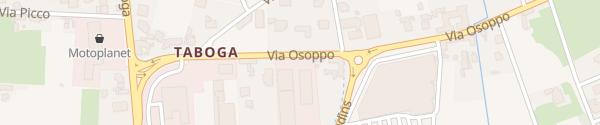 Karte Via Osoppo Gemona del Friuli
