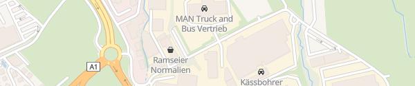 Karte MAN Truck Service Eugendorf