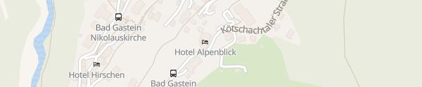 Karte Hotel Alpenblick Bad Gastein