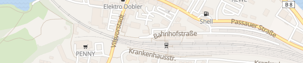 Karte Bahnhof Vilshofen
