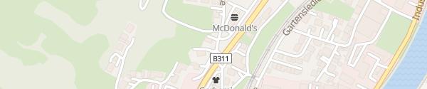 Karte HPC nahe McDonald's St. Johann im Pongau