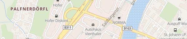 Karte Autohaus Vierthaler Sankt Johann im Pongau