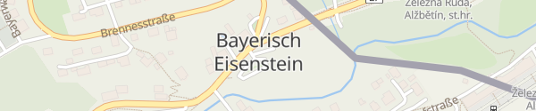 Karte Parkplatz Ortsmitte Bayerisch Eisenstein