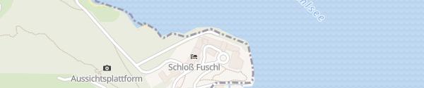 Karte Schloss Fuschl Hof bei Salzburg
