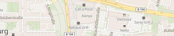 Karte Tiefgarage Stadtringtreff Neubrandenburg