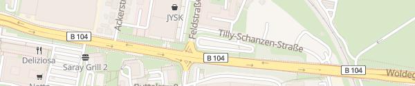 Karte Parkplatz Tilly-Schanzen-Straße Neubrandenburg