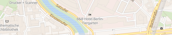 Karte B&B Hotel Berlin-Tiergarten Berlin