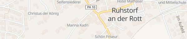 Karte Hotel Antoniushof Ruhstorf