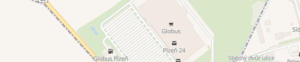 Karte OC Globus Plzeň