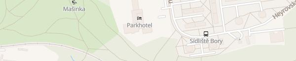Karte Parkhotel Pilsen