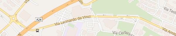 Karte Via Leonardo da Vinci L'Aquila