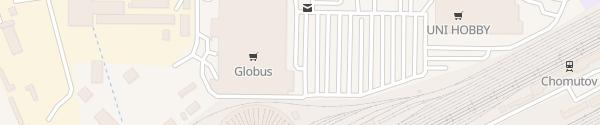 Karte OC Globus Chomutov