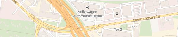 Karte Volkswagen Automobile Berlin