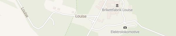 Karte Brikettfabrik Louise Domsdorf