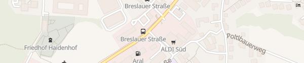 Karte ALDI Süd Neuburger Straße Passau