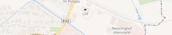Karte Lidl Altenmarkt im Pongau