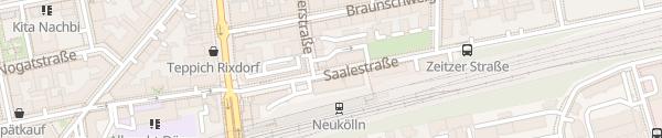 Karte Saalestraße Berlin