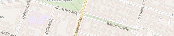Karte Bänschstraße Berlin