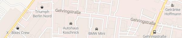 Karte BMW Niederlassung Weißensee Berlin