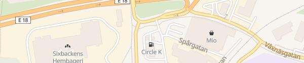 Karte IONITY Circle K Karlstad