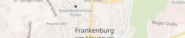 Karte Gemeindeamt Frankenburg am Hausruck