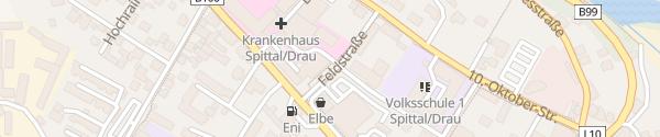 Karte Krankenhaus Spittal an der Drau